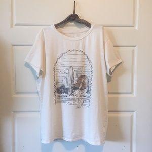 Billabong White Desert and Moon Cactus T-shirt